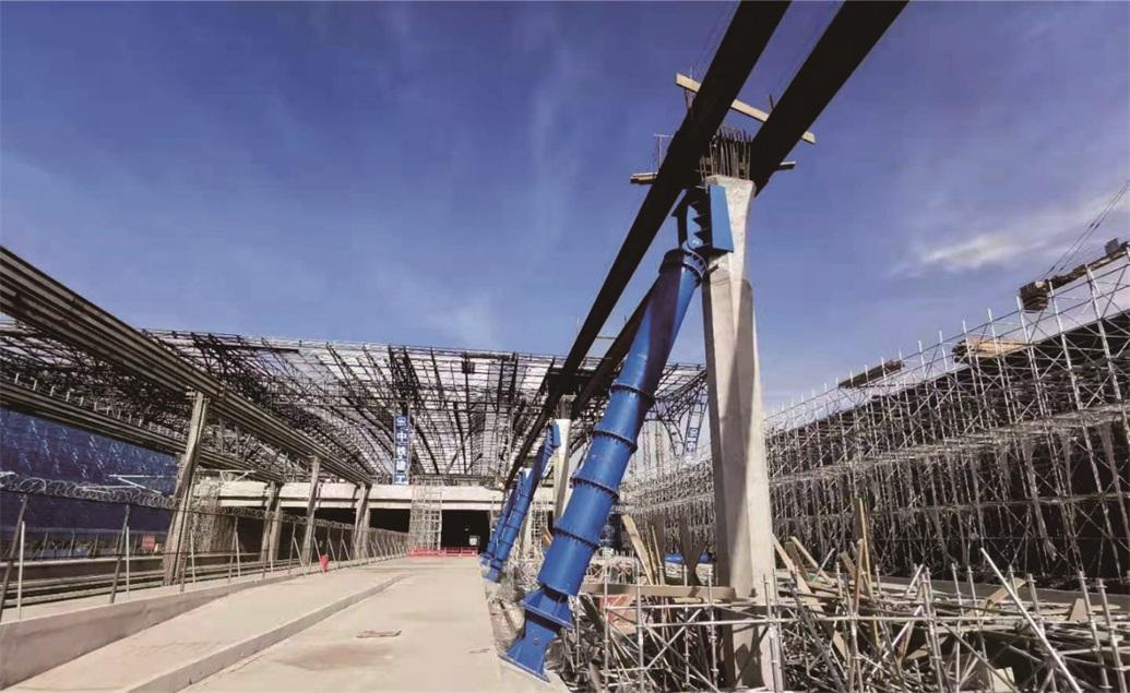郑州高铁南站站房钢支撑加工安装项目